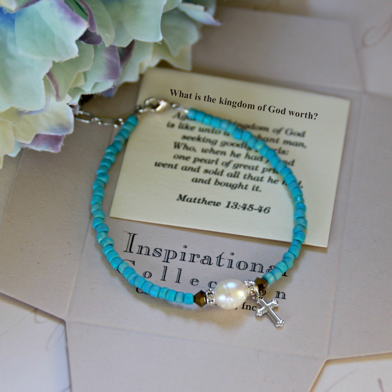 IN-111 What is the kingdom of God worth? bracelet