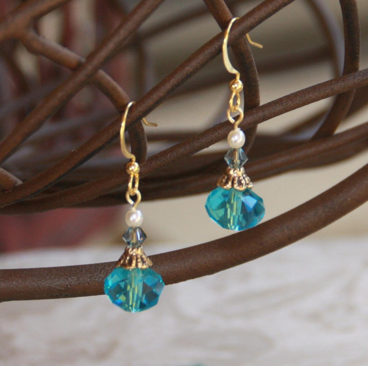 FER-237 Elegant Crystal Earrings