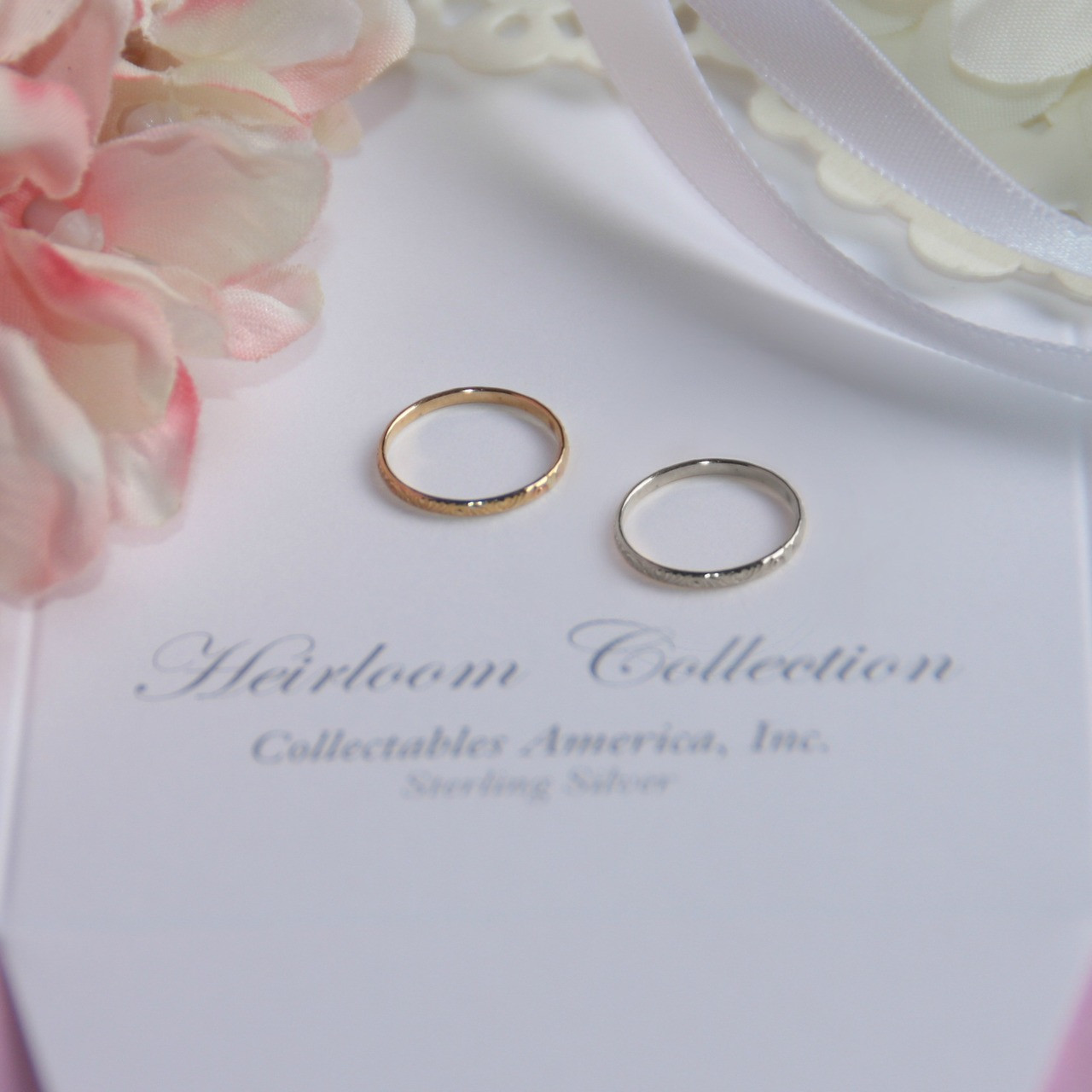 BA-3  Infant Baby Ring Sterling Silver with 14kt. Yellow Gold Finish