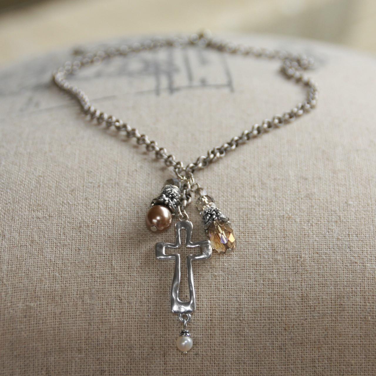 IN-519  In Style Cross Dangle Necklace