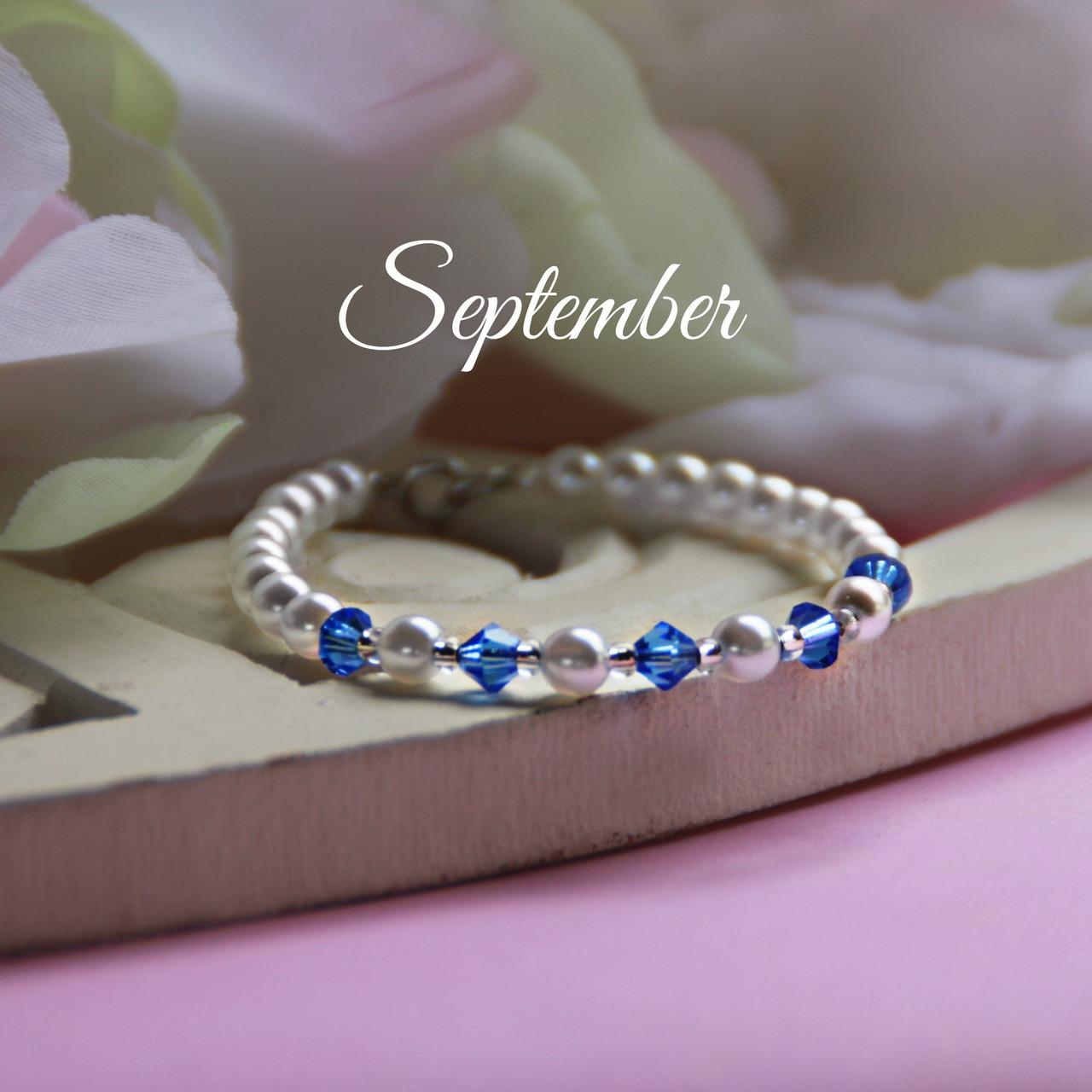 "CJ-137 September Birthstone Bracelet 5"""