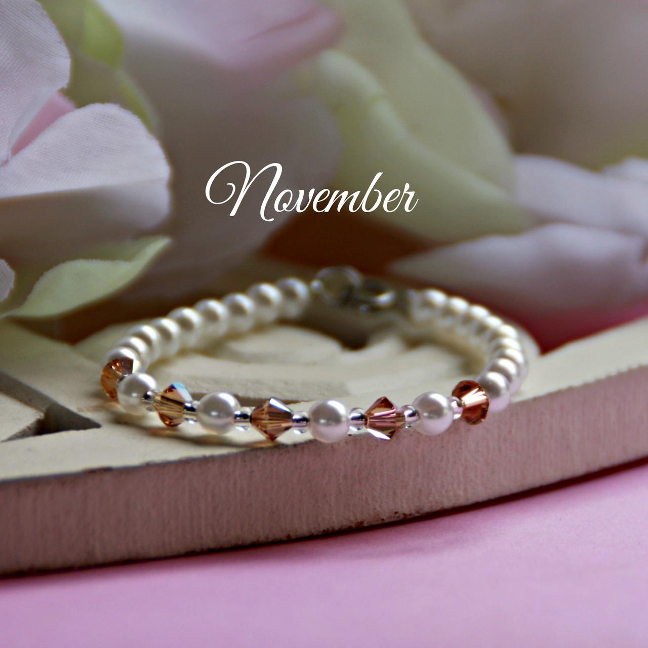 """CJ-139  November Birthstone Bracelet 5"""""""