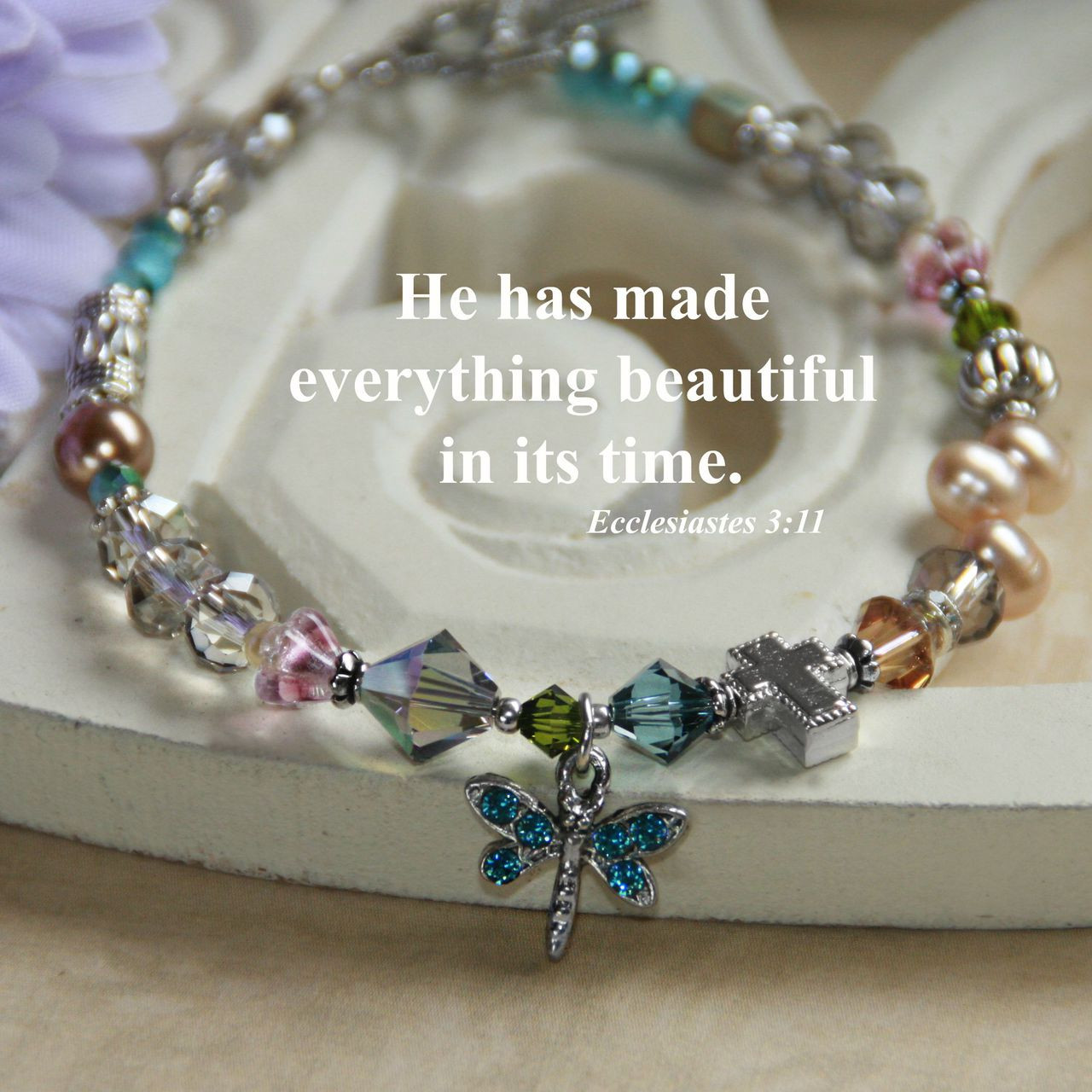 IN-378  He has made Everything Beautiful in its Time...Love this Bracelet