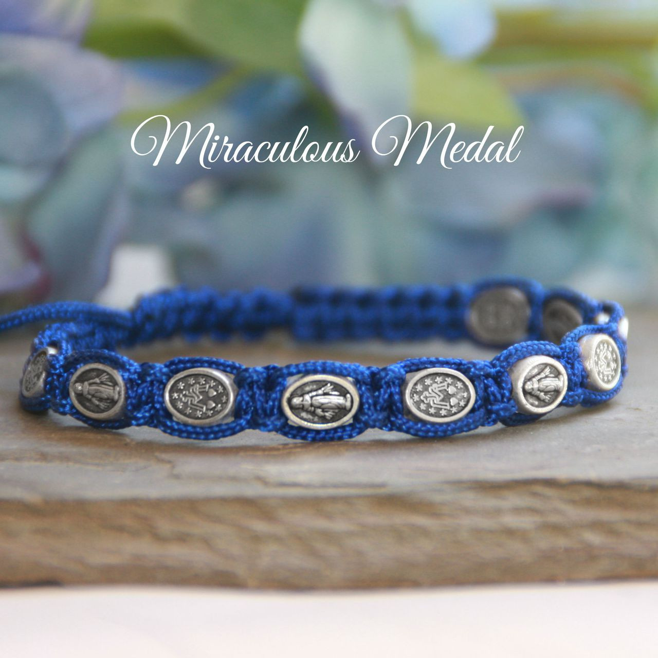 IN-167  Miraculous Medat Corded Bracelet with Message Card and Organza bag