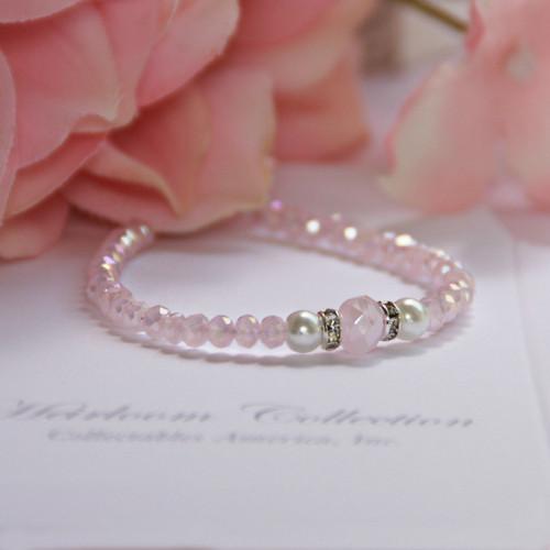 """CJ-535-4  So Soft and Sweet Pastel Pink Bracelet Infant 4"""""""