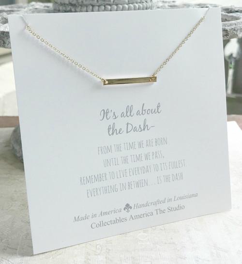 DA-9G  Golden Bar All about the Dash Necklace