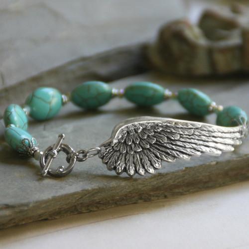 BR-13  On Angels Wings Beautiful Bracelet