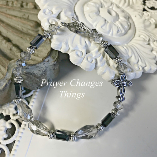 IN-200  Classic Prayer Changes Things Bracelet