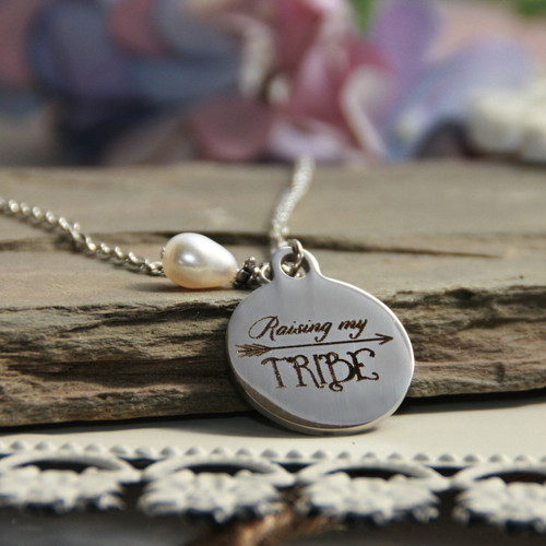 IN-578  Raising My Tribe Necklace