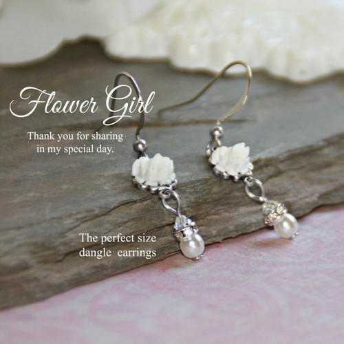 CJ-166  A must have Earring for The Flower Girl