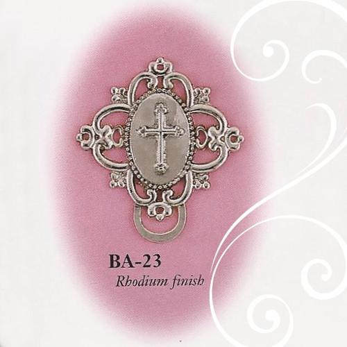 BA-23 Fancy Cross Paci Holder