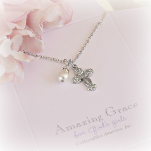 GG-10  Amazing Grace Cross and Pearl