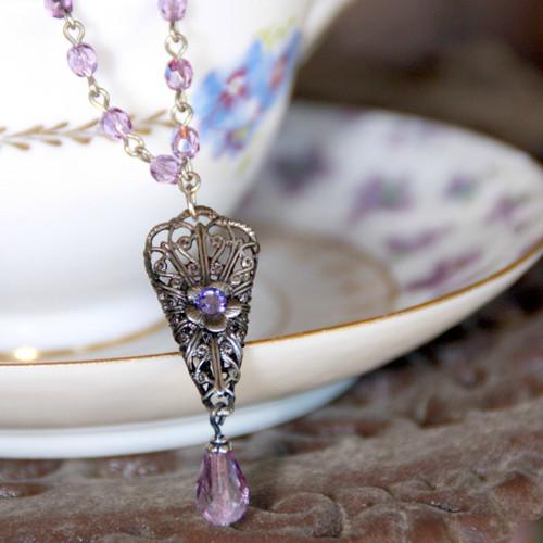 NCK-202  Lilac Necklace