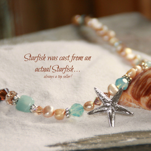 OC-40  Beautiful Starfish Necklace