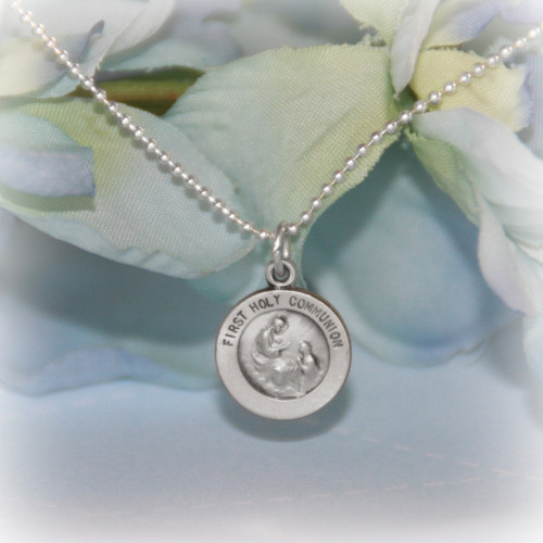STG-226  First Communion Sterling Silver Medal