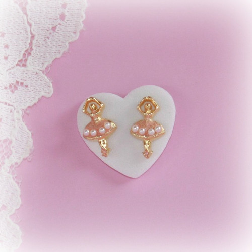 CJ-7  Ballerina Post Earrings