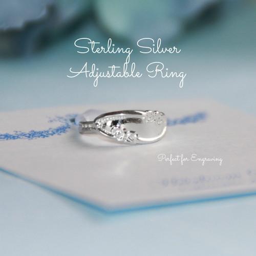 STG-12 Sterling Silver Adjustable Vintage Style Ring