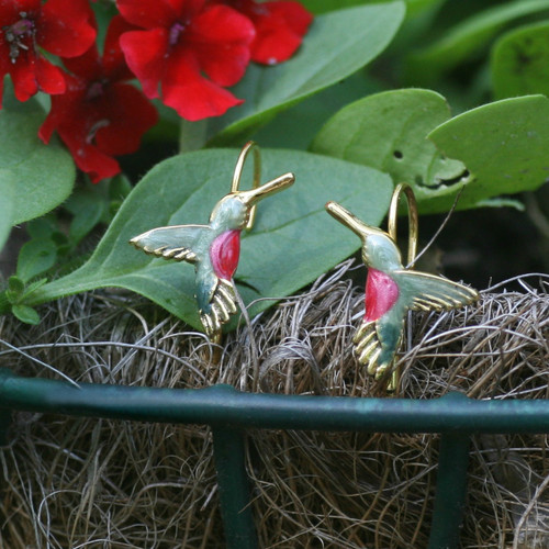 EN-11  Hummingbird Earrings