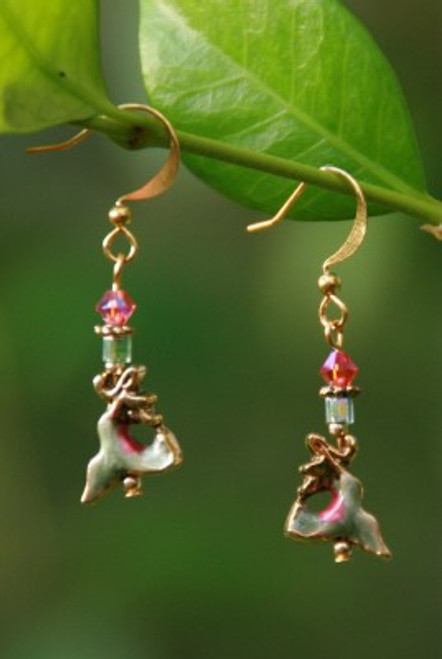 IS-217  Hummingbird Dangle Earrings