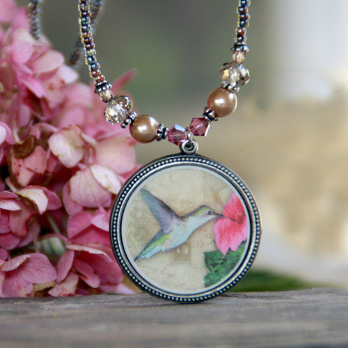 ART-220 Hummingbird Necklace ART Collection