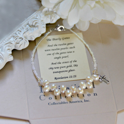 IN-112 New Pearly Gates Freshwater Pearl Bracelet