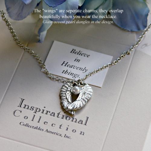 IN-412 Angel Wings Necklace Believe in Heavenly things.