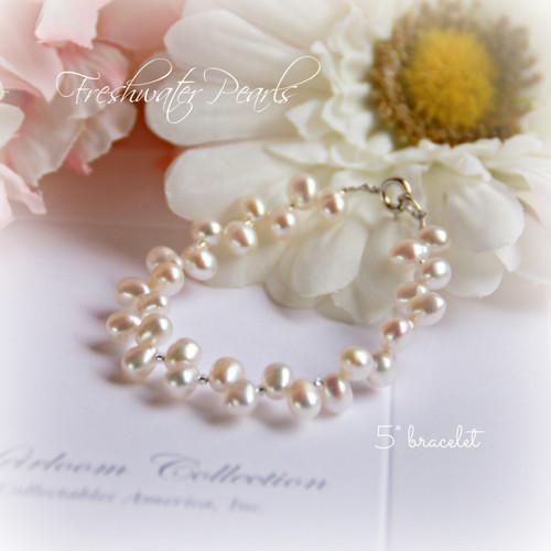 """CJ-310-5 Freshwater Pearl Bracelet 5"""" size"""