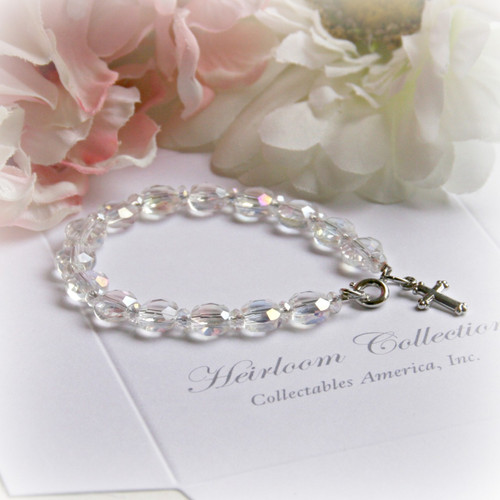 "CJ-311-6 Crystal AB 6"" child bracelet"