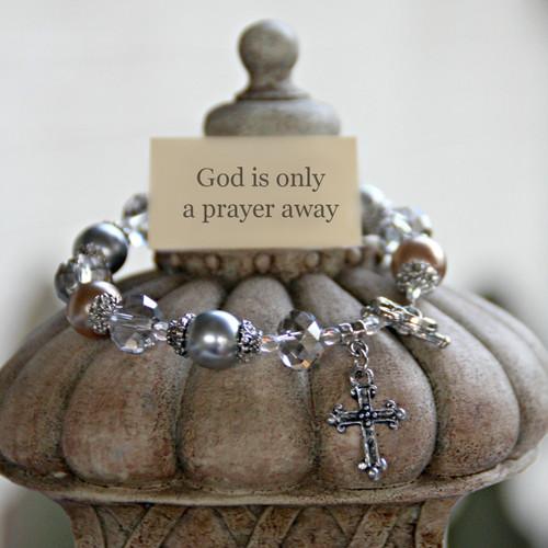 IN-118 God is only a prayer away Bracelet