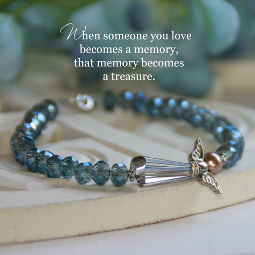 IN-133W Angel Memory Bracelet with special message