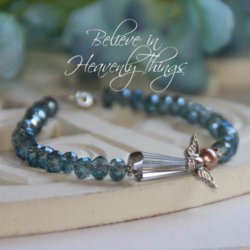 IN-133B Believe in Heavenly Things Angel Bracelet