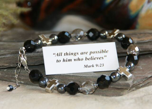 Christian bracelet black/grey