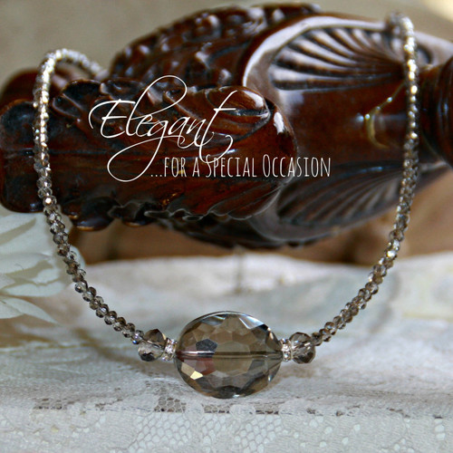 IS-644  Platinum Crystals for a Special Occasion  Necklace
