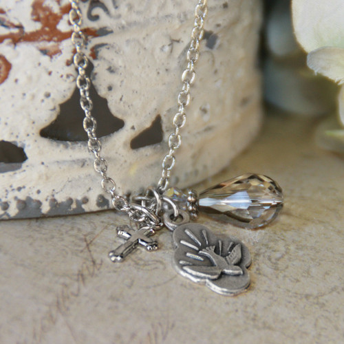 IN-518  Holy Spirit Charm Necklace