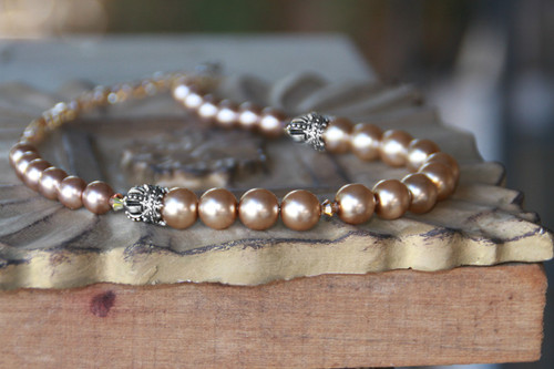 "IS-184  Timeless Pearls with ""Crown"" Accents"