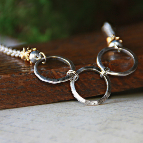 IS-210  Circles in Style Necklace