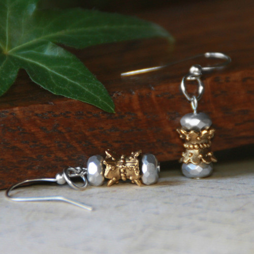 IS-199 Matching Earrings for Circle Necklaceo