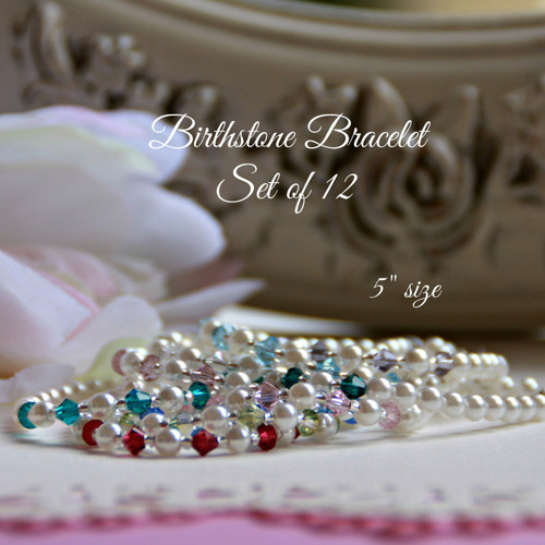 "BIRBRAC-SET  Set of all Birthstone 5"" Bracelets (price each at 20.00 retail each)"