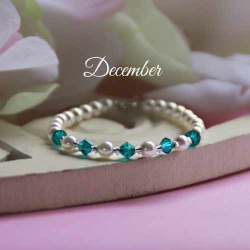 "CJ-140  December Birthstone Bracelet 5"""