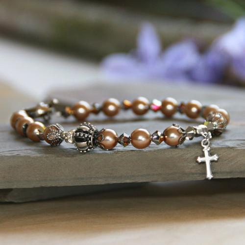 IN-369  Crown of Glory Pearl Bracelet