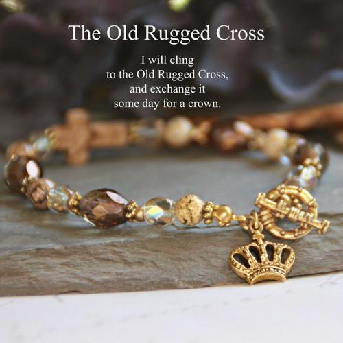 IN-233  The Old Rugged Cross Bracelet