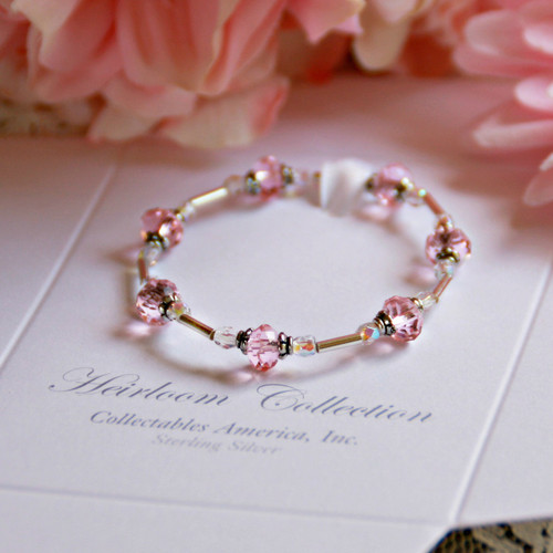 "CJ-356  Crystals and Stretchy 5"" Bracelet"