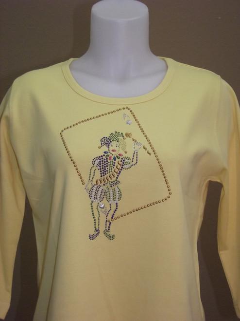 Mardi Gras Clown Knit Top