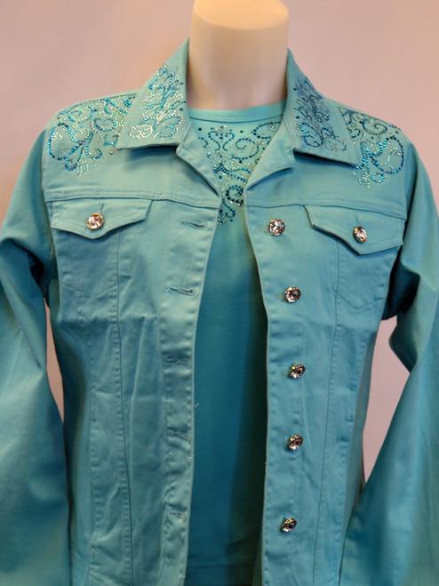 Aqua Denim Jacket