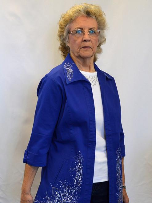 Royal Blue (3/4 Sleeve Jacket)