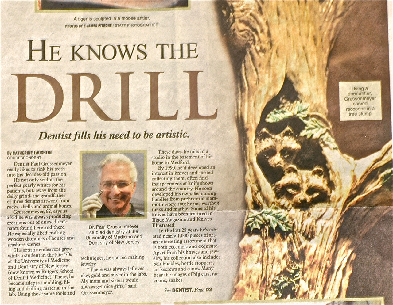 Paul Grussenmeyer's 3-D Artistry Featured in Burlington County Times Newspaper