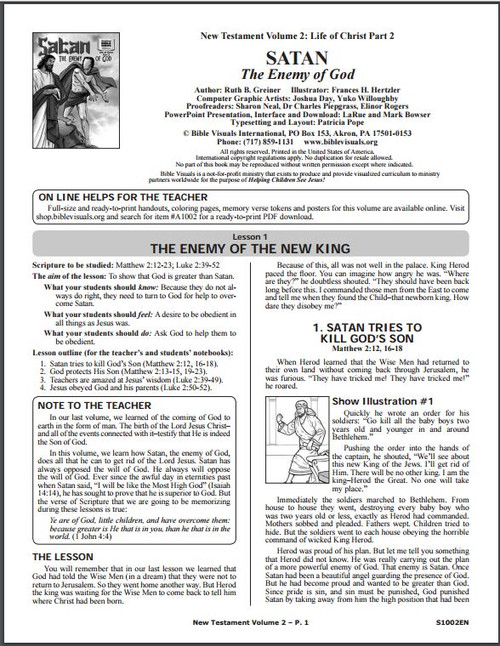 Satan The Enemy of God (lesson guide)*