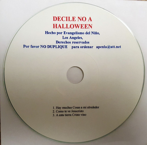 Decile No a Halloween (music cd)