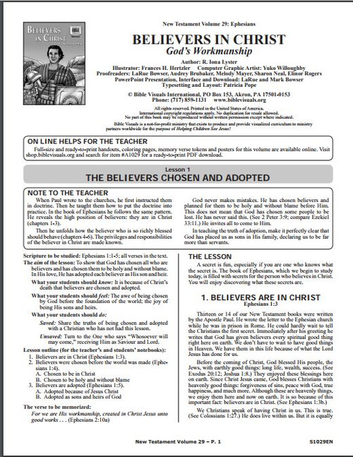 Believers in Christ (lesson guide)*