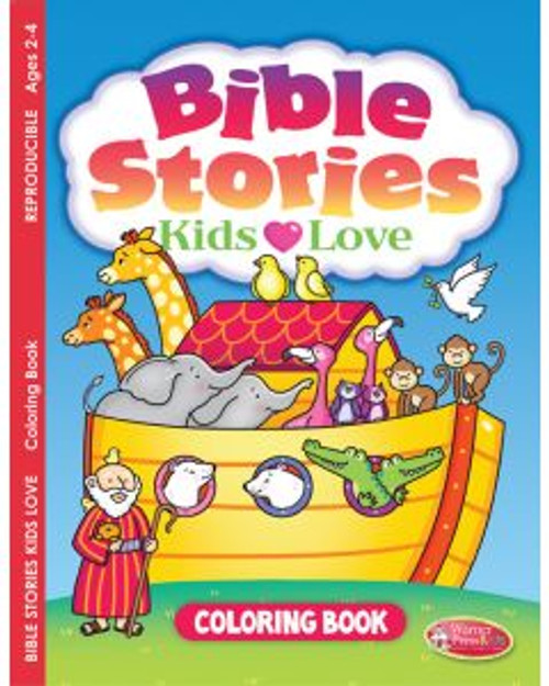 Bible Stories Kids Love (coloring book)